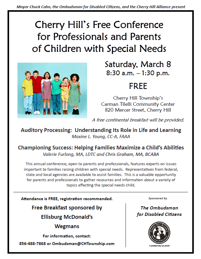 Cherry Hill Conference for Professionals and Parents of Children with Special Needs
